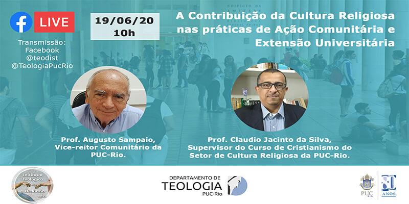 Live: A Contribuição da Cultura Religiosa nas práticas de Ação Comunitária e Extensão Universitária