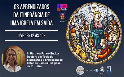 Nesta sexta-feira, 18, será a Última live de 2020 do Setor de Teologia a Distância