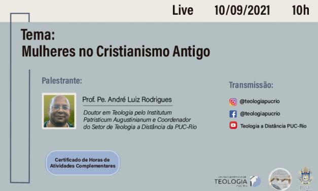 """live """"Mulheres no Cristianismo Antigo"""""""